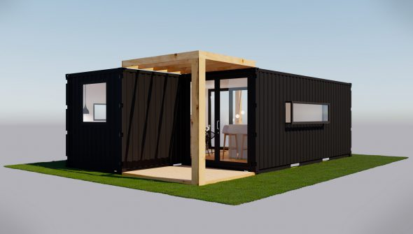 maison en contenaire affordable excellent maison container a vendre beautiful maison en. Black Bedroom Furniture Sets. Home Design Ideas